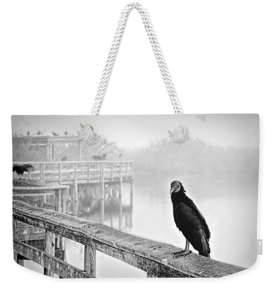 Trail And Vulture Bw Weekender Tote Bag