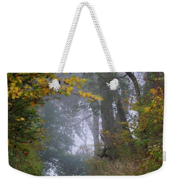 Trail In Morning Mist Weekender Tote Bag