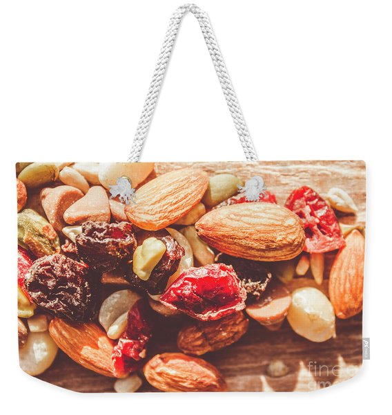 Trail Mix High-energy Snack Food Background Weekender Tote Bag