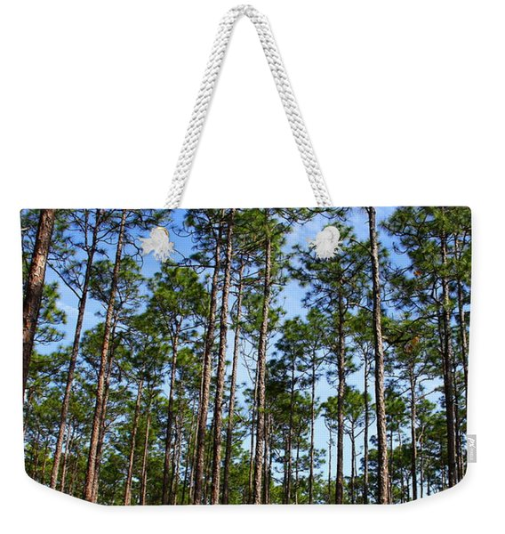 Trail Through The Pine Forest Weekender Tote Bag