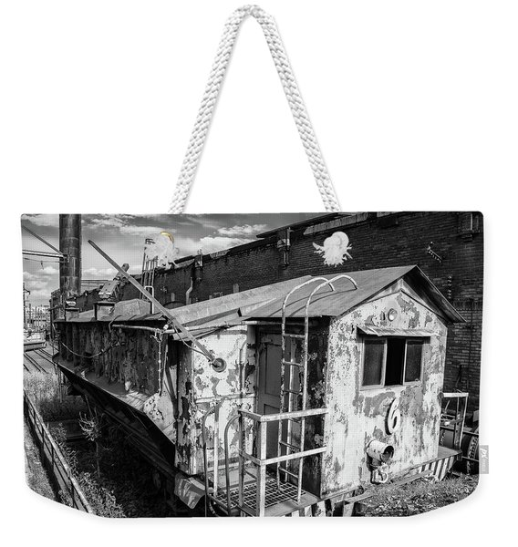 Train 6 In Black And White Weekender Tote Bag