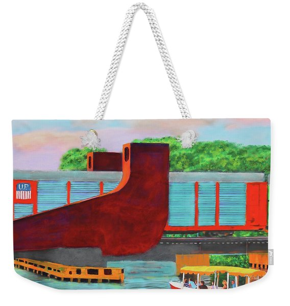 Train Over The New River Weekender Tote Bag