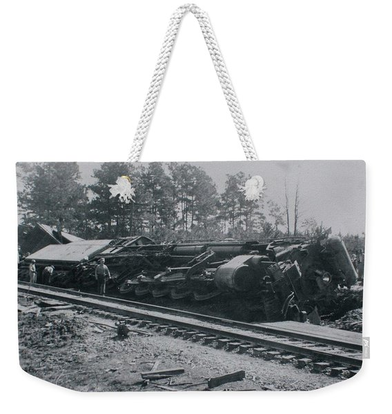 Train Derailment Weekender Tote Bag