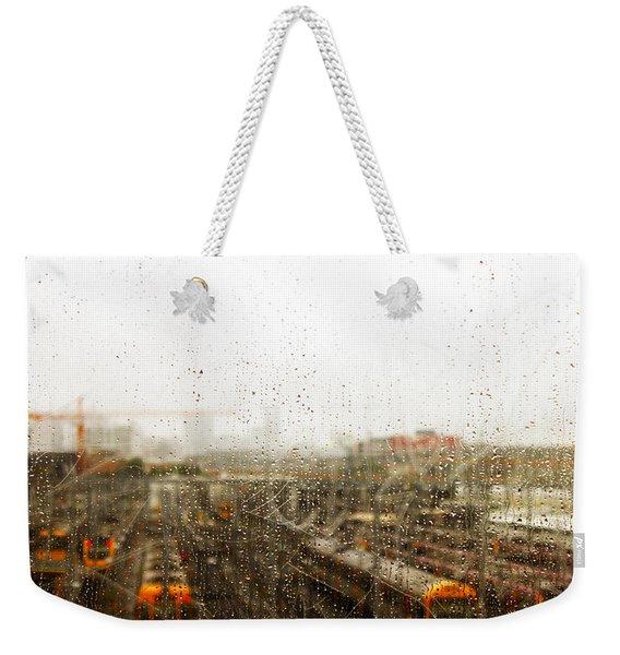 Train In The Rain Weekender Tote Bag