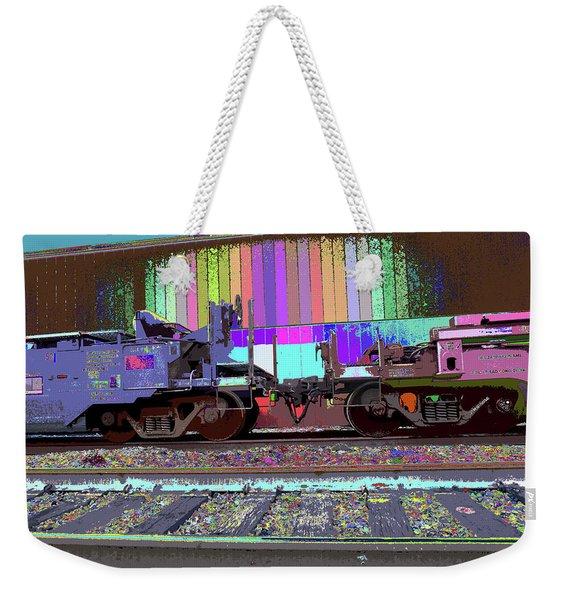 Train Parked Weekender Tote Bag
