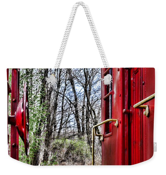 Train - The Red Caboose Weekender Tote Bag