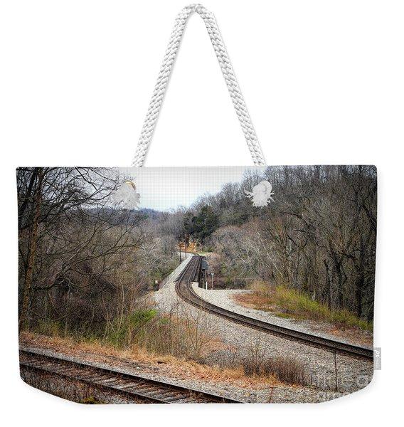 Train Tracks Across The New River - Radford Virginia Weekender Tote Bag
