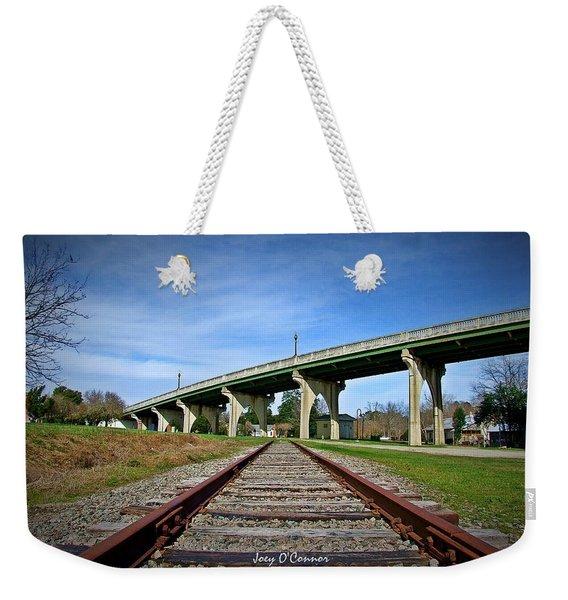 Train Tracks Main Street Bridge Conway South Carolina Weekender Tote Bag