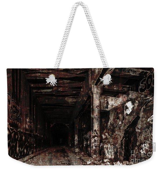 Donner Summit Train Tunnel Weekender Tote Bag