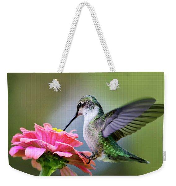 Tranquil Joy Hummingbird Square Weekender Tote Bag
