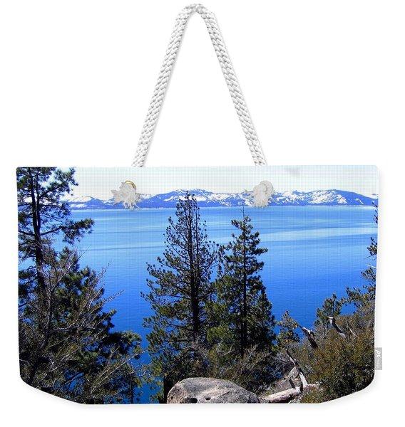 Tranquil Lake Tahoe Weekender Tote Bag