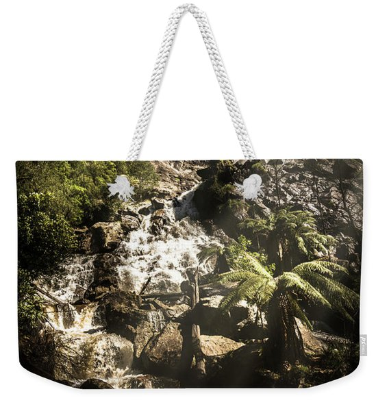 Tranquil Mountain Canyon Weekender Tote Bag