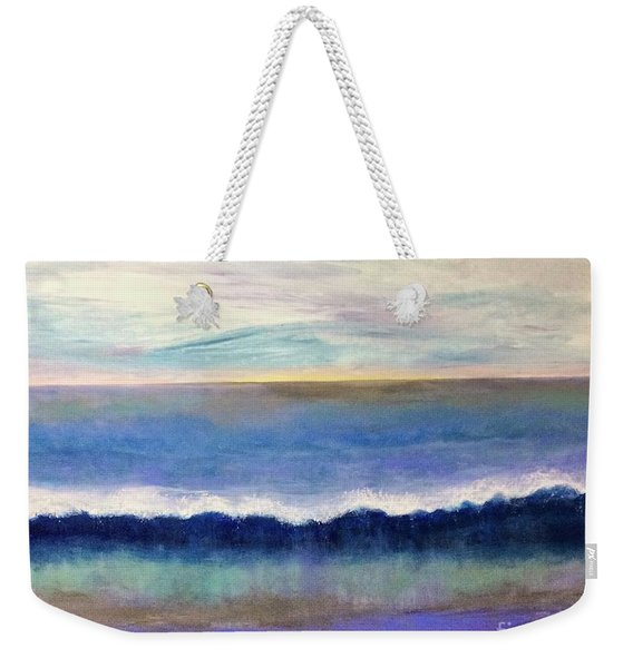 Weekender Tote Bag featuring the painting Tranquil Seas by Kim Nelson