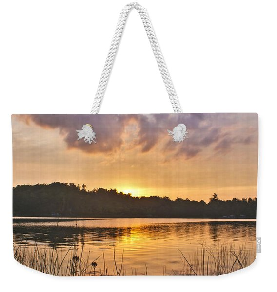 Tranquil Sunset On The Lake Weekender Tote Bag