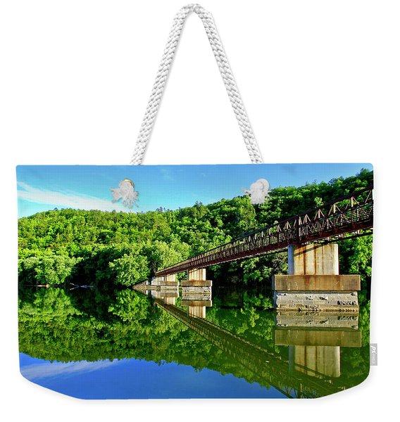 Tranquility At The James River Footbridge Weekender Tote Bag