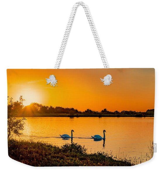 Weekender Tote Bag featuring the photograph Tranquility by Nick Bywater