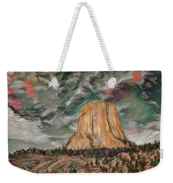 Transcendental Devils Tower Weekender Tote Bag