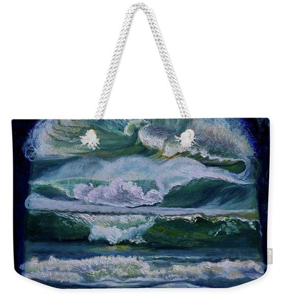 Transformed By God-waves Of Glory Weekender Tote Bag