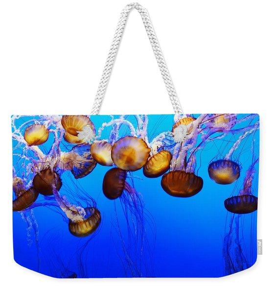 Translucent Jellyfish Weekender Tote Bag
