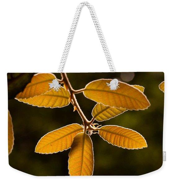 Translucent Leaves Weekender Tote Bag