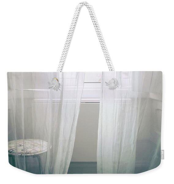 Transparent White Curtains Weekender Tote Bag