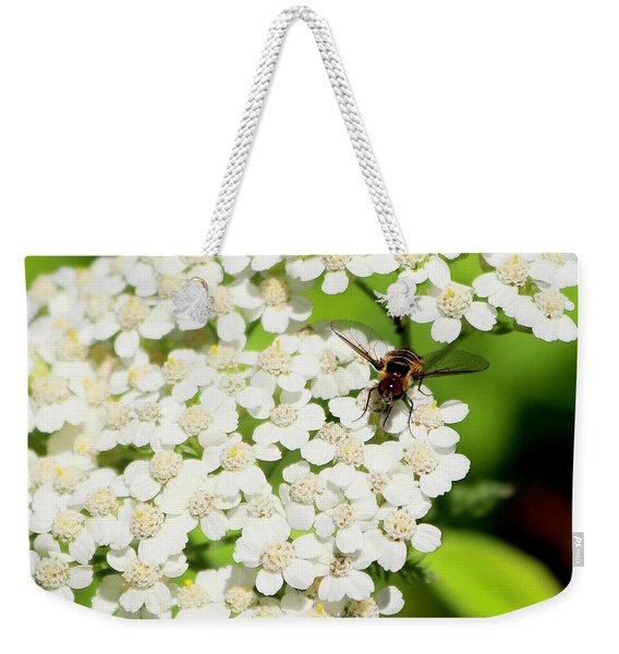 Transverse Flower Fly Weekender Tote Bag