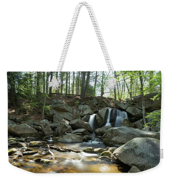 Weekender Tote Bag featuring the photograph Trap Falls Spring 1 by Brian Hale