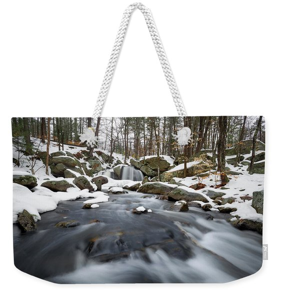Weekender Tote Bag featuring the photograph Trap Falls Winter by Brian Hale
