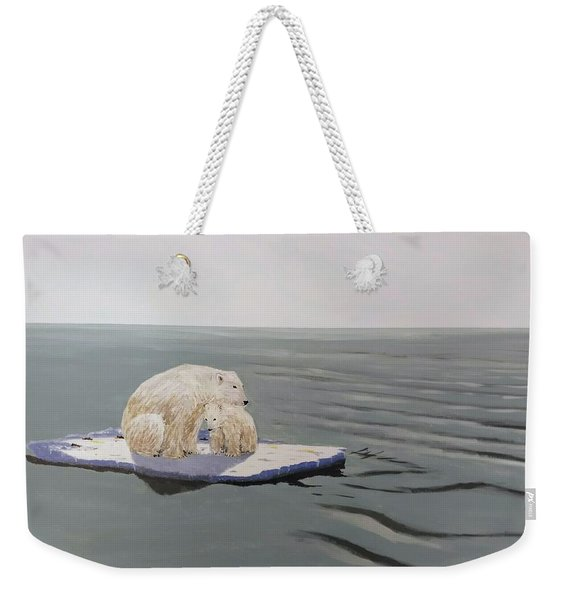 Weekender Tote Bag featuring the painting Stranded by Kevin Daly