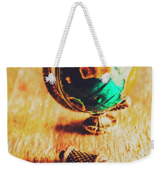Travellers Globe Weekender Tote Bag
