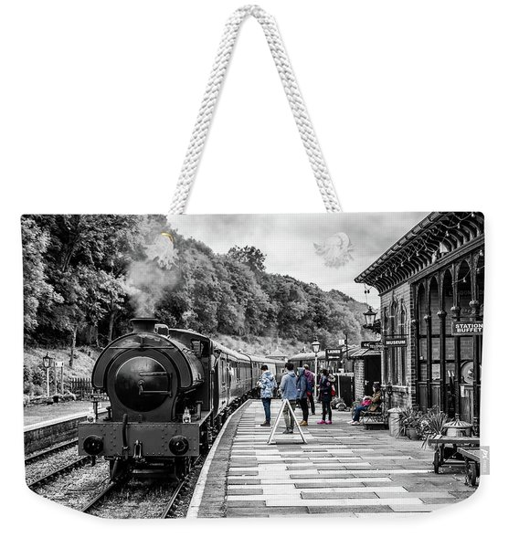 Weekender Tote Bag featuring the photograph Travellers In Time by Nick Bywater