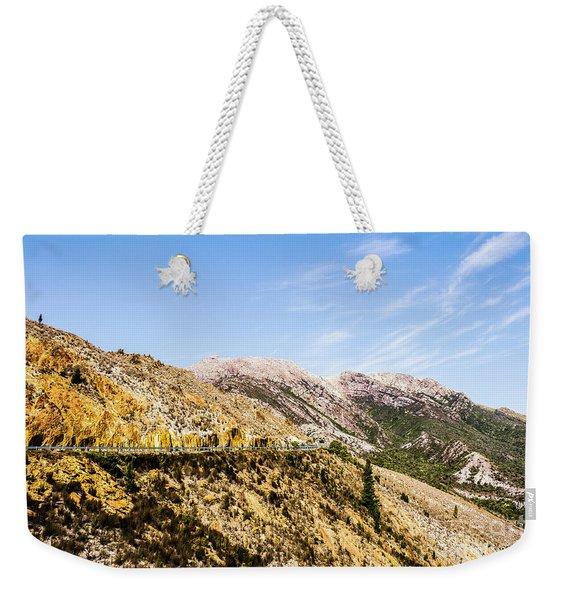 Travelling Rugged Alps Weekender Tote Bag