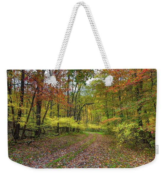 Travels Through Autumn Weekender Tote Bag