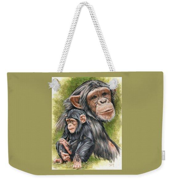 Weekender Tote Bag featuring the mixed media Treasure by Barbara Keith