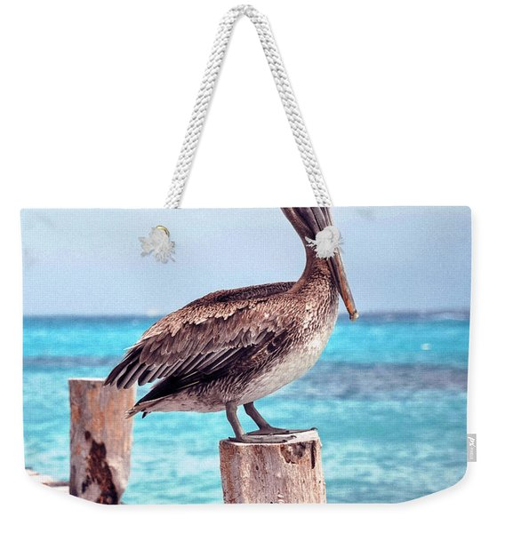 Treasure Coast Pelican Pier Seascape C1 Weekender Tote Bag