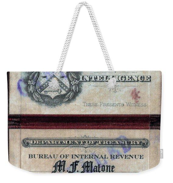 Treasury Agent Id Weekender Tote Bag