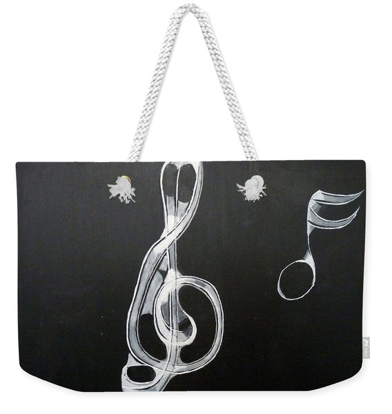 Weekender Tote Bag featuring the painting Treble Clef by Richard Le Page