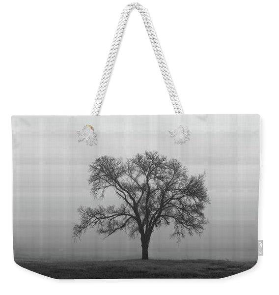 Tree Alone In The Fog Weekender Tote Bag