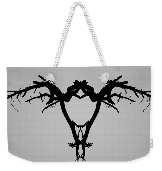 Tree Bird I Bw Weekender Tote Bag