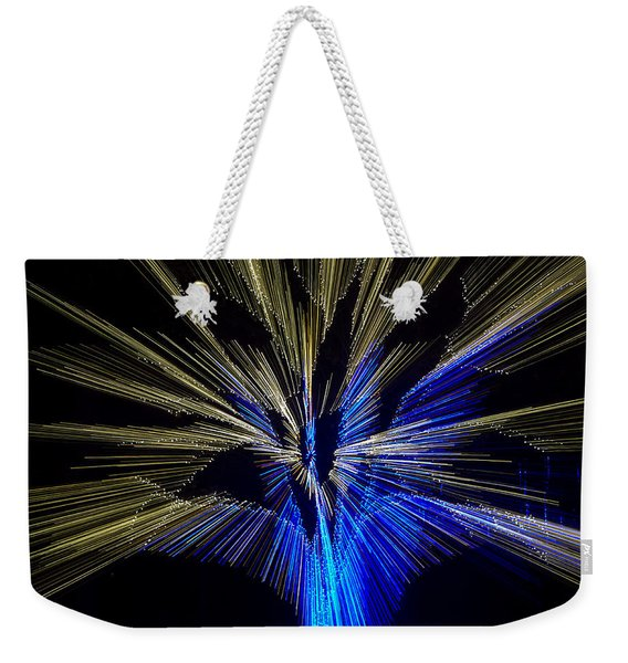 Tree Burst Of Blue And Yellow Weekender Tote Bag