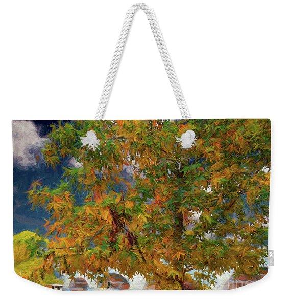 Tree By The Bridge Weekender Tote Bag