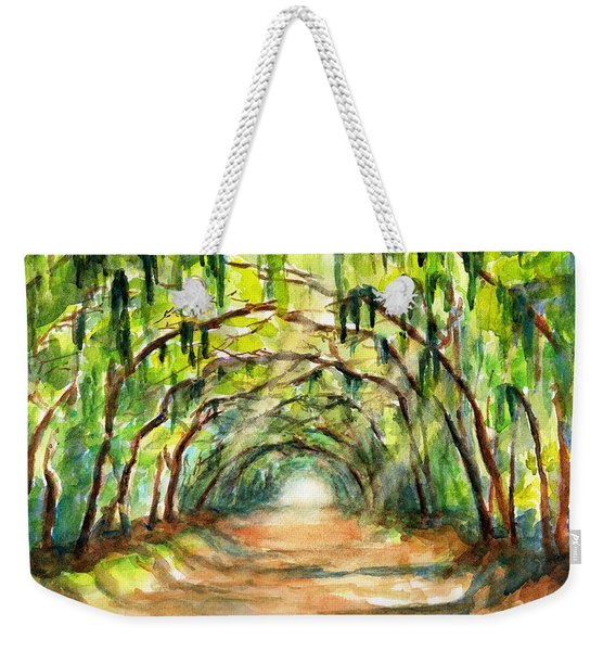 Tree Canopy With Spanish Moss Weekender Tote Bag