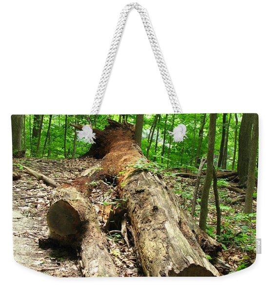Tree Down Weekender Tote Bag