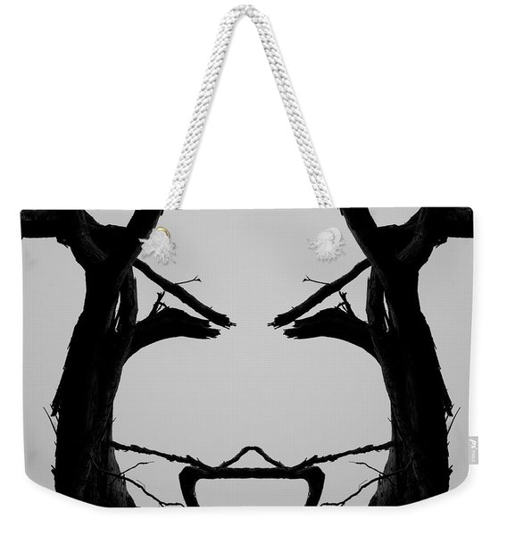Tree Face I Bw Sq Weekender Tote Bag