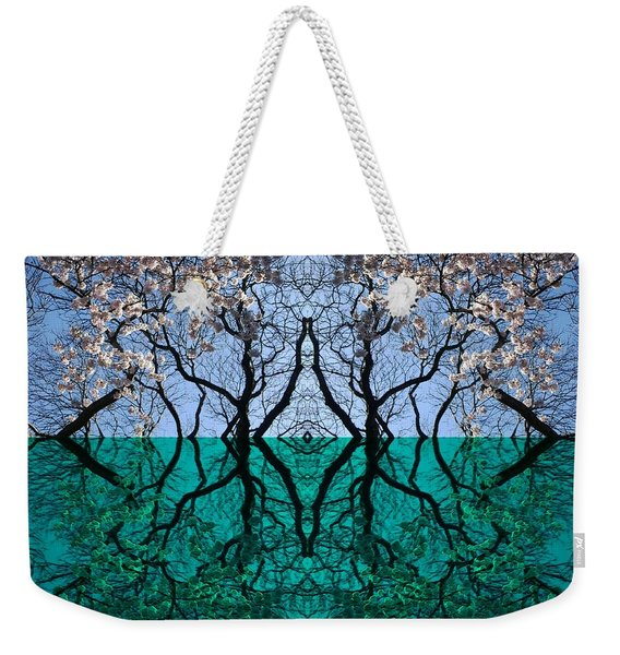 Tree Gate Between Water And Sky Worlds Weekender Tote Bag