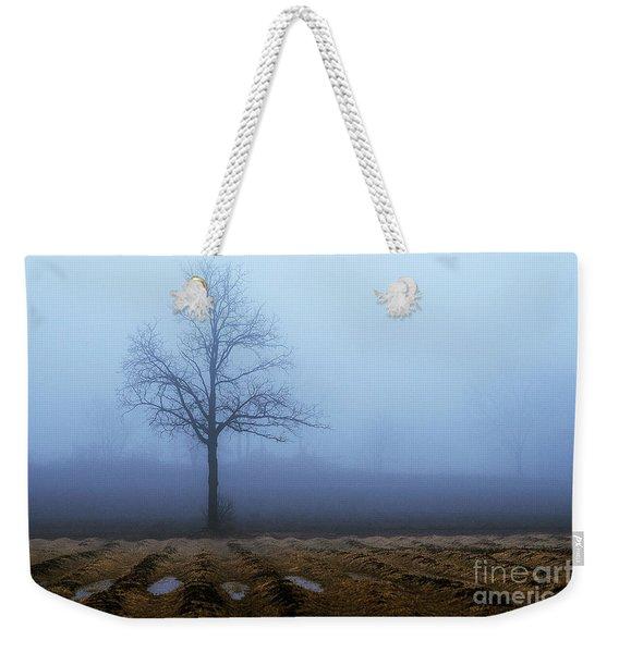 Tree In Fog 9954 Weekender Tote Bag