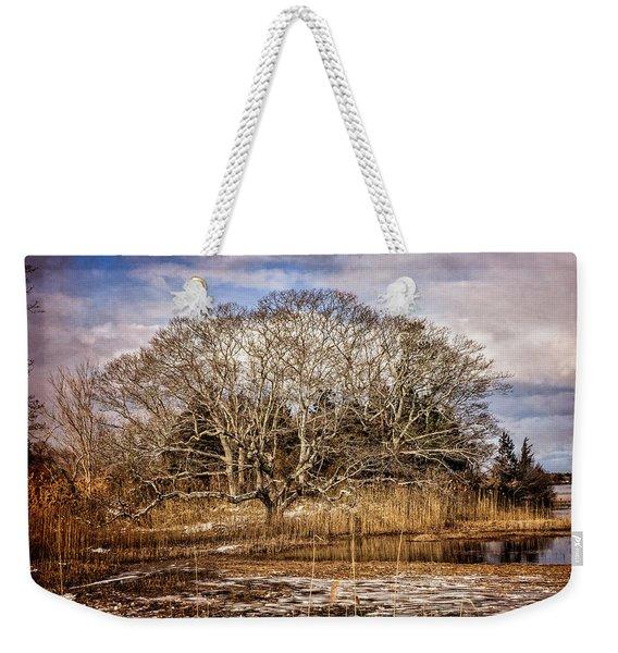 Tree In Marsh Weekender Tote Bag
