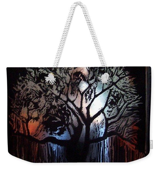 Tree In Moonlight. Weekender Tote Bag