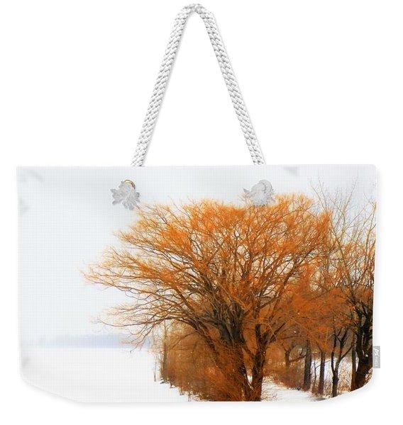 Tree In The Winter Weekender Tote Bag