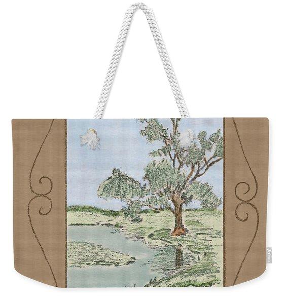 Tree Mirror In Lake Weekender Tote Bag